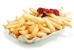 Pommes mit Ketchup: Fast food vegetarisch