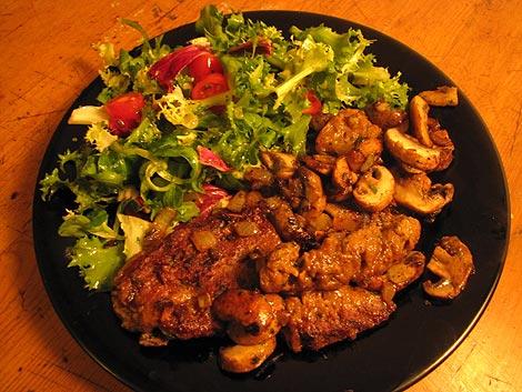 Seitan-Pilz-Pfanne