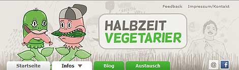 Halbzeitvegetarier - die Webseite