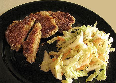 Wiener Schnitzel aus Sojafleisch