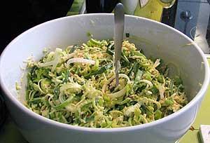 Apfel-Lauch-Salat