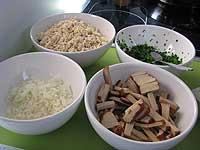 Zutaten Tofu-Rührei