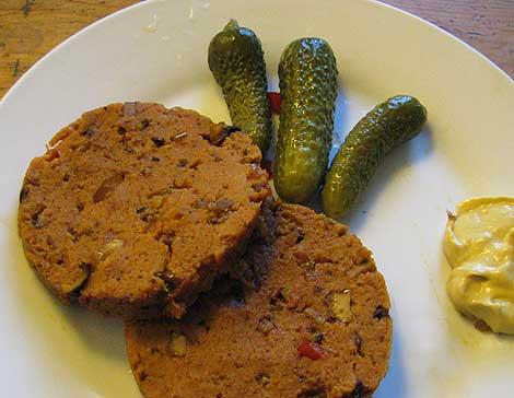 Seitanwurst mit Paprika - mein erster Versuch