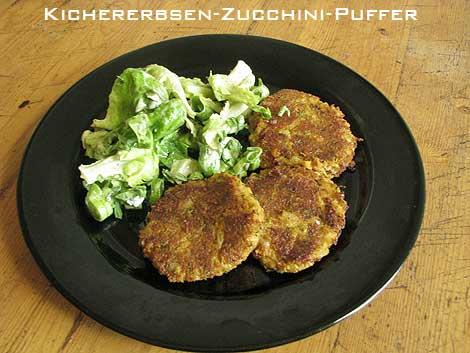 Kichererbsen-Zucchini-Bratlinge