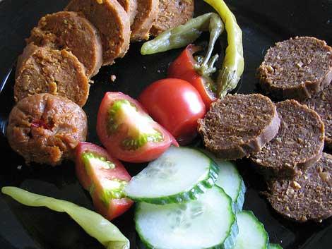 Vegane Wurst: chorico comino und fuego