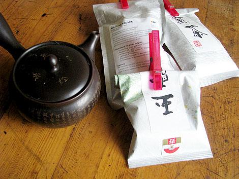 Grüner Tee und Kännchen