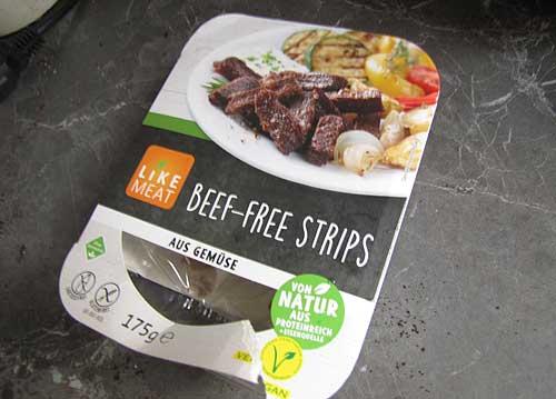Beef free Strips Fleischalternative